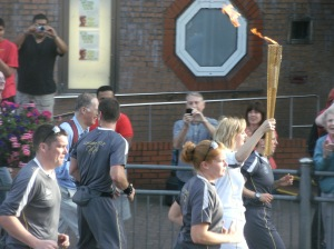 The Olympic torch in Leyton