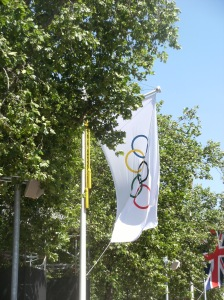 Olympic flag on The Mall