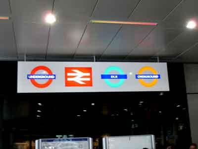 Stratford station signs