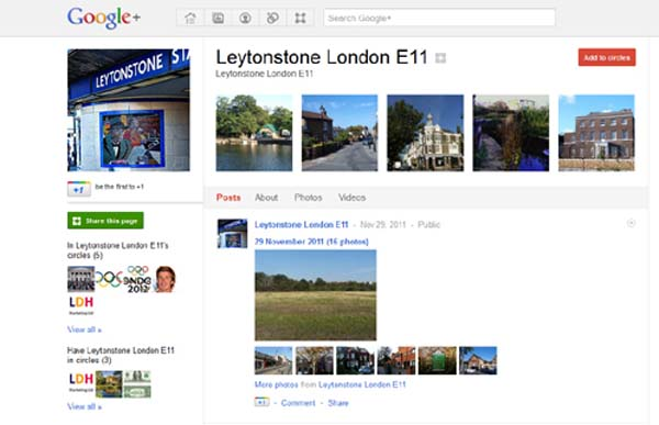 Leytonstone Google+ profile