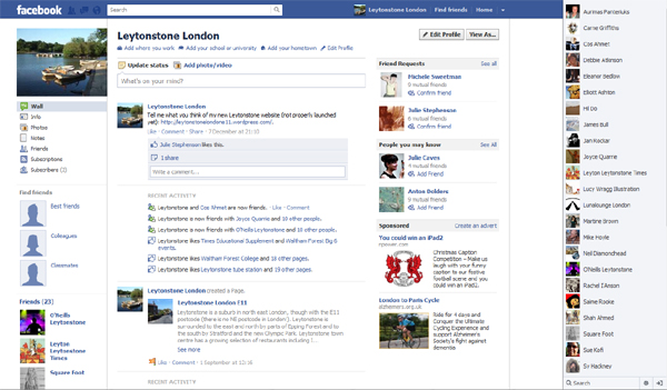 Leytonstone London Facebook profile