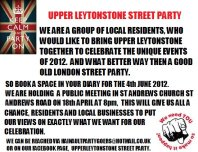 Upper Leytonstone Street Party banner