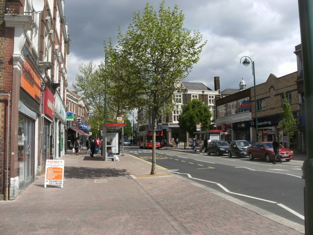 Leytonstone High Road looking towards the Red Lion