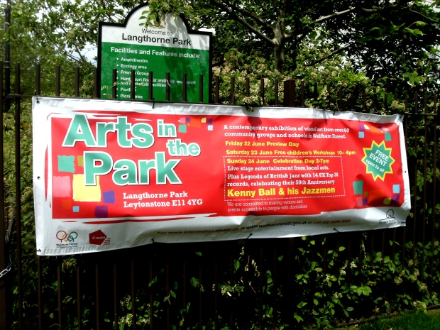 Art in the Park Langhthorne Park Leytonstone June 2012
