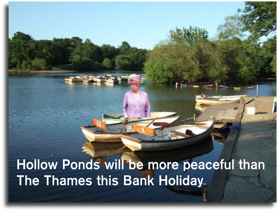 The Queen apparently on Hollow Pond boats 'Hollow Ponds will be more peaceful than The Thames this Bank Holiday