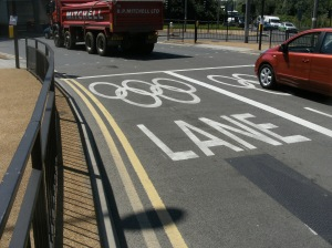 Olympic Games Lane sign