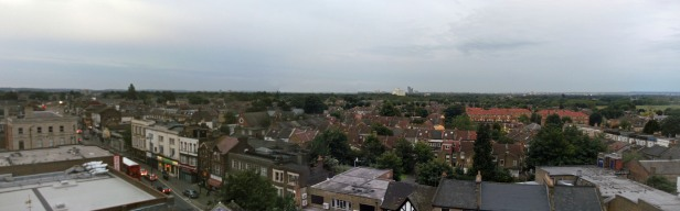 Leytonstone High Road from St John's Tower looking north