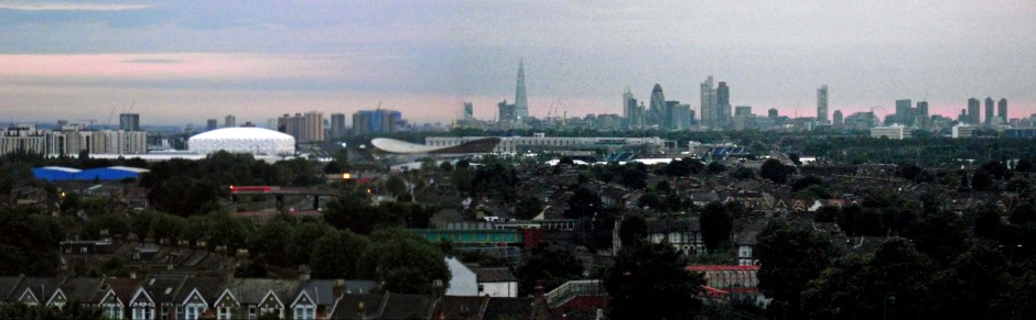 The Olympic Park north towards the City from St John's Tower